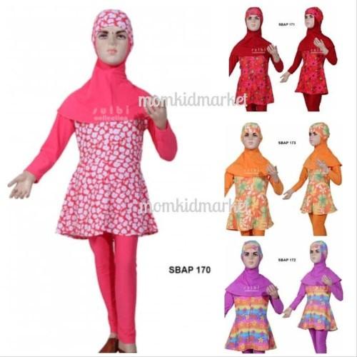 Foto Produk Baju Renang Anak Perempuan -Feb Baju Renang Anak Muslimah Ukuran 1 2 dari NAYLIL STORE99