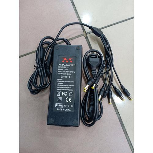 Foto Produk Adaptor 12v 10a - Adaptor Pompa DC plus Kabel Cumi Cabang 8 dari NAYLIL STORE99