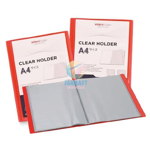 Foto Produk Map Clear Holder A4 isi 20 PP Pocket Merah Red Album Dokumen dari Jakraft Indonesia