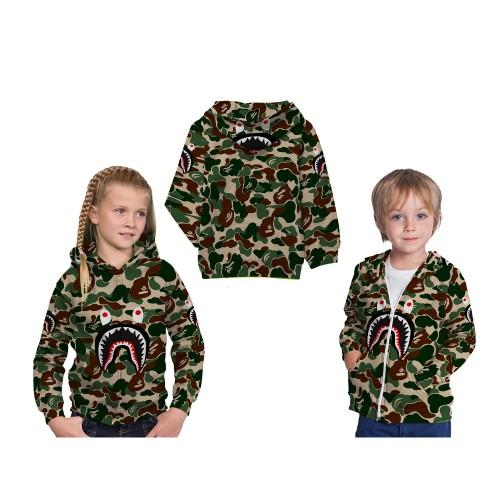 Foto Produk Jaket Sweater Hoodie Anak Fullprint Custom Bape Shark 02 Murah dari AD Pro