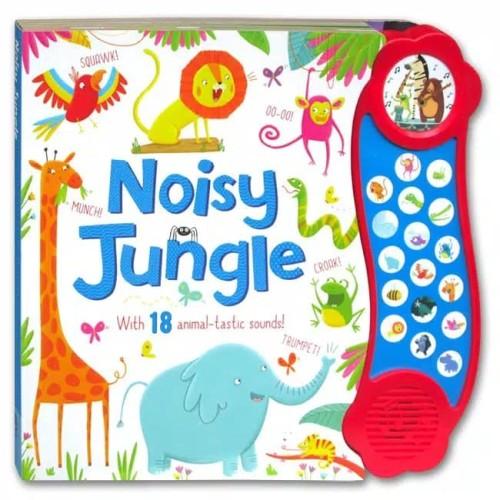 Foto Produk Noisy Jungle Mega Sound Board Book with 18 Fantastic Sounds. Buku Anak dari Little Ivy