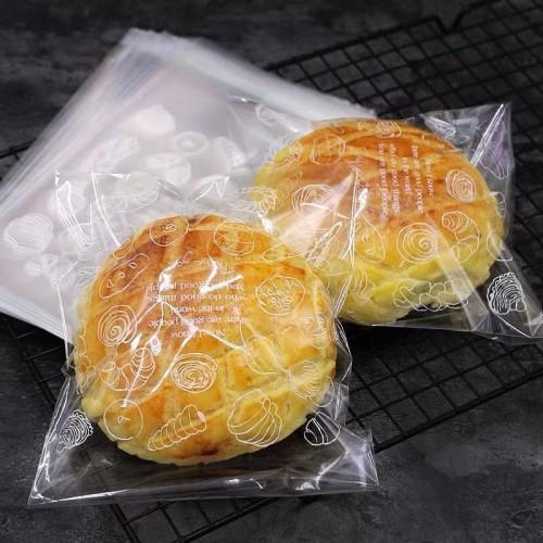 Foto Produk plastik kemasan roti / bakpao/ donat motif | kemasan roti 15x18+3 dari nanabakehouse