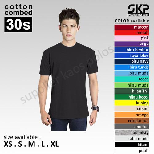 Foto Produk Kaos Polos Oblong Pendek Soft Combed 30s dari Supplier Kaos Polos