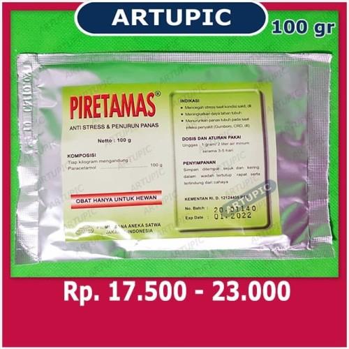 Foto Produk Piretamas 100 gram Paracetamol Vitamin C Sorbitol Anti Stress Gumboro dari ArtupicPeralatanPeternak