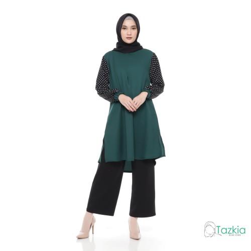 Foto Produk Atasan Muslim Wanita | Brisia Tunik | Tazkia Hijab Store | Original - Merah, L dari Tazkia Hijab Store