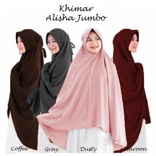 Foto Produk Jilbab Hijab Kerudung Bergo Tali Instan Khimar Alisha Syari Jumbo dari hijabafwa