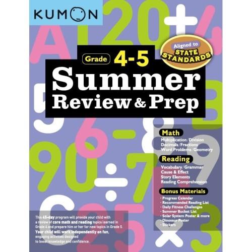 Foto Produk Buku Anak - Kumon - Summer Review & Prep Workbooks 4-5 (new) dari Kumon Publishing INA
