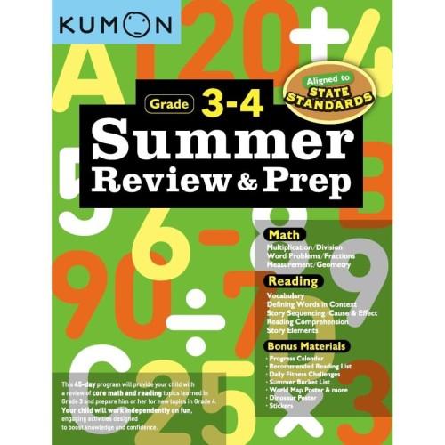 Foto Produk Buku Anak - Kumon - Summer Review & Prep Workbooks 3-4 (new) dari Kumon Publishing INA