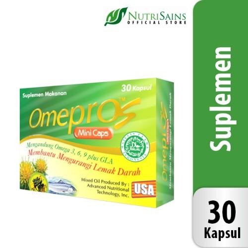 Foto Produk Omepros Minicaps - isi 30 Kapsul Penurun Kolesterol dan Trigliserida dari Nutrisains Official