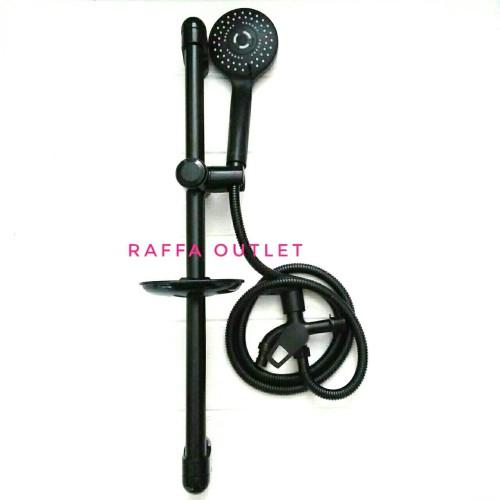 Foto Produk shower tiang set+kran cabang hitam/shower mandi/shower tiang stainless dari Raffa outlet