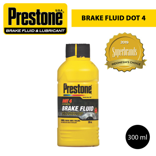 Foto Produk Prestone Brake Fluid // Cairan Rem // Minyak Rem DOT 4 300 ml - Putih dari sahabat otomotif 888