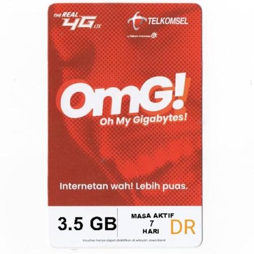 Jual Voucher Paket Data Telkomsel 3.5 GB / Kuota Data