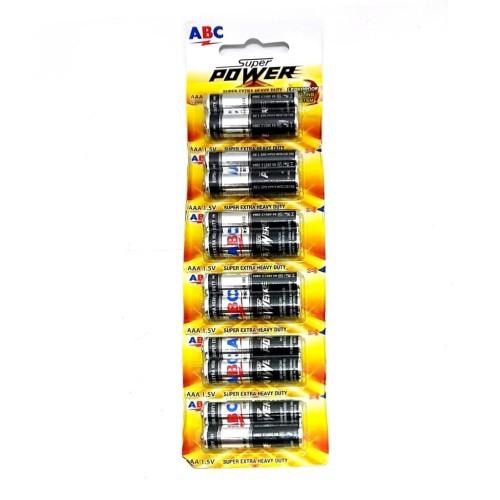 Foto Produk Battery - ABC - ABC Super power AAA (12 buah) dari Minyak Kutus Jakarta