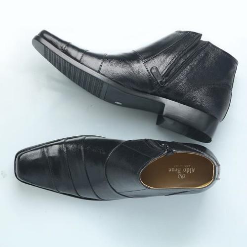 Foto Produk Sepatu Boot Pria Boots Pantofel Formal Resleting Kulit Asli DP.BOOT02 - Hitam, 41 dari FORDZA Shop