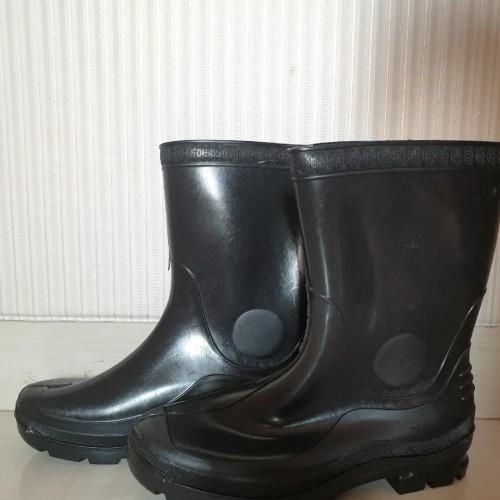 Foto Produk Sepatu Boot Forli Pendek Hijau bot lentur karet ukuran BESAR anti air - Hitam, S dari Ecohome Shop