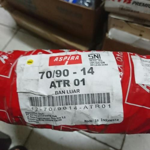 Foto Produk Ban Luar Trail Aspira ATR01 70/90 ring 14 ban kembang tahu Tube Type dari Battery Accu Aki Bandung