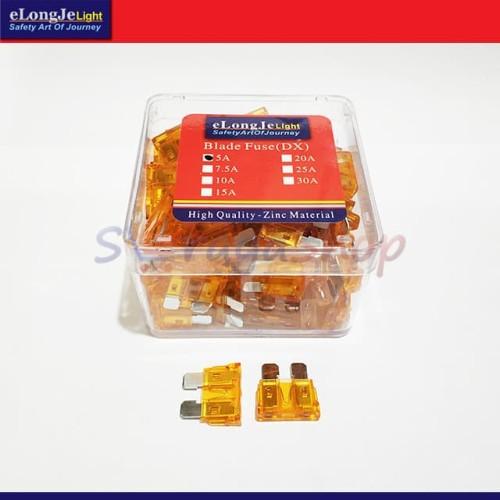 Foto Produk Fuse Sekring DX Tancap 5A (Coklat Muda - Orange) ElongJe dari Seraya Shop