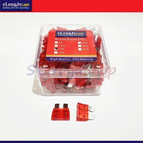 Foto Produk Fuse Sekring DX Tancap 10A (Merah) ElongJe dari Seraya Shop