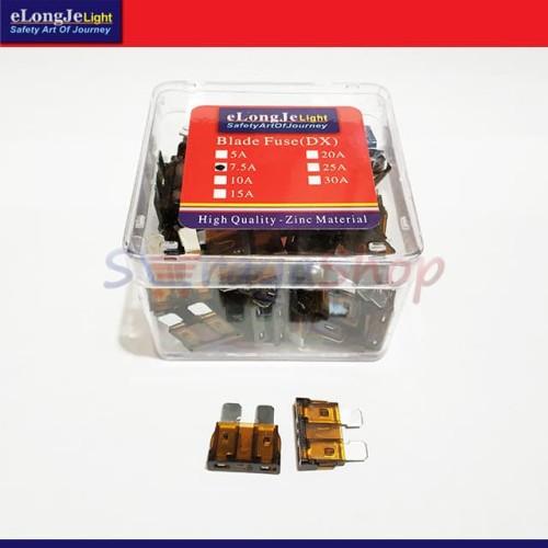 Foto Produk Fuse Sekring DX Tancap 7.5A (Coklat Tua) ElongJe dari Seraya Shop