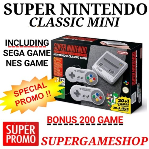 Foto Produk Super Nintendo Super NES Classic Edition Bonus 200 Games dari Super-Gameshop