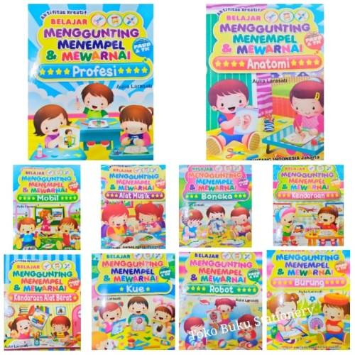 Foto Produk Buku Menggunting, Menempel Dan Mewarnai Untuk Paud & TK dari Toko Buku dan Stationery