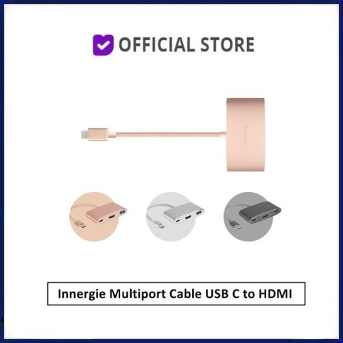 Foto Produk Innergie Multiport Cable USB C to HDMI MagiCable USBC to HDMI USB-C - Gold dari DUNIA COMPUTER & SERVICE