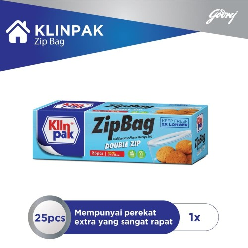 Foto Produk Klinpak ZipBag Double Zip Small 20 x 28 dari Godrej Indonesia Store
