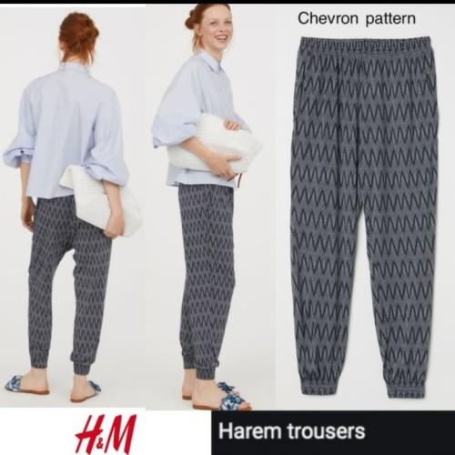 Foto Produk H&M Harem Pants - Chevron, XS dari Jualan meriah