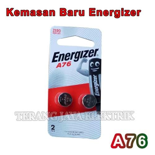 Foto Produk Baterai Kancing / Remote / Kalkulator/ Jam A76/LR44 1,5V Energizer dari tk terang jaya elektrik