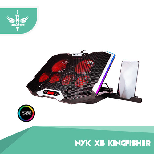 Foto Produk COOLINGPAD RGB WITH CONTROLLER NYK X-5 KINGFISHER dari NYK Official Store
