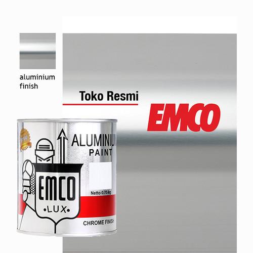 Foto Produk Cat Kayu Besi EMCO Aluminium Paint, Chrome Finish - 0,75kg dari Toko Cat Bangunan SKAY