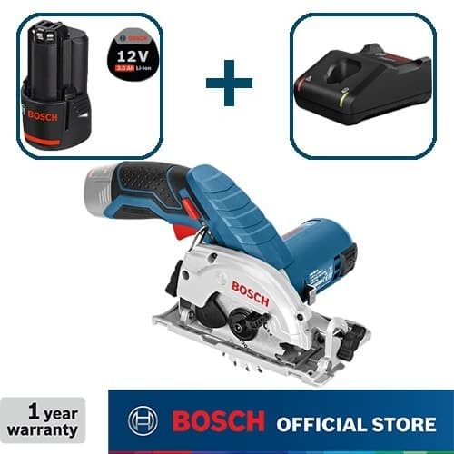 Foto Produk Bosch Gergaji Sirkel Baterai 12Volt GKS 12 V-LI Full Set (3,0 Ah) dari Bosch Power Tools