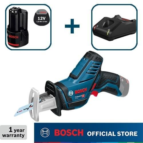 Foto Produk Bosch Sabre Saw Baterai 12Volt GSA 12 V-LI Full Set (1,5 Ah) dari Bosch Power Tools