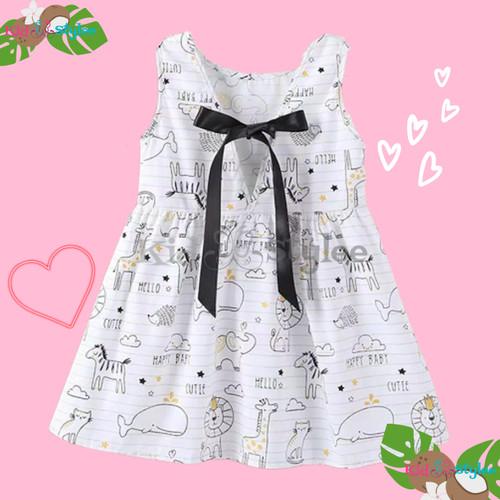 Foto Produk Baju Dress Pakaian Gaun Anak Perempuan Cewek Casual Import Murah - Size 90 dari Kidstylee