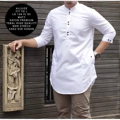 Foto Produk Baju Koko Muslim Busana Pria Arama Panjang Trend India Pakistan Putih dari Sang_Fajar