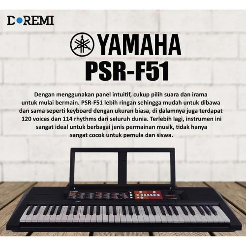 Foto Produk YAMAHA PORTABLE KEYBOARD PSR-F51 / PSR F 51 / PSR F51 dari PT Doremi Music