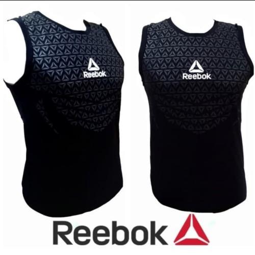 Foto Produk SINGLET BODY REBOK / baju training gym fitnes pria kaos running dari Bolapedia