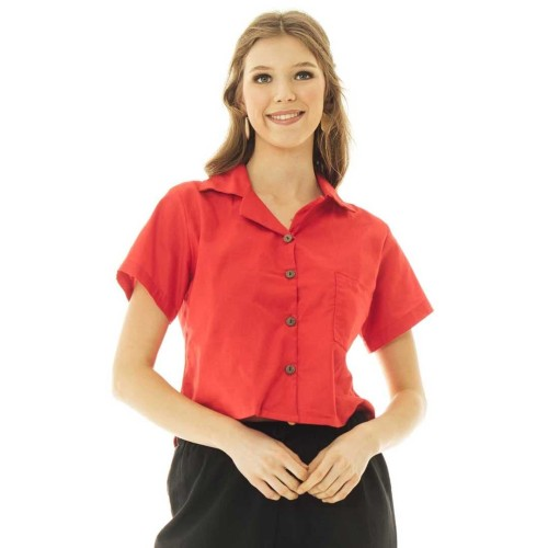 Foto Produk Kara Blouse in Red - Beatrice Clothing dari Beatrice Clothing
