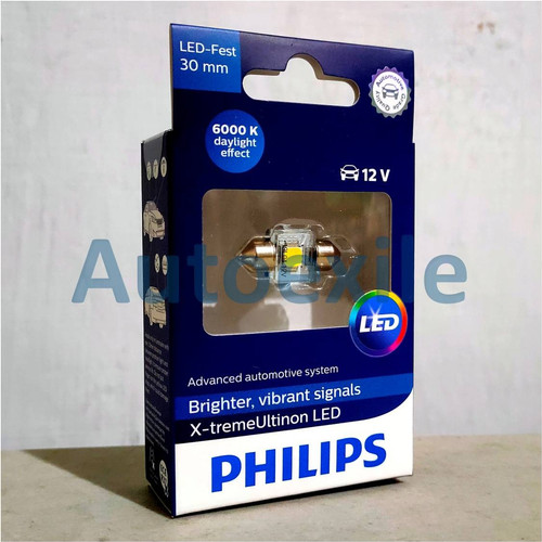 Foto Produk Philips Xtreme Ultinon LED Festoon 30mm 6000K (Lampu Interior Mobil) dari Autoexile