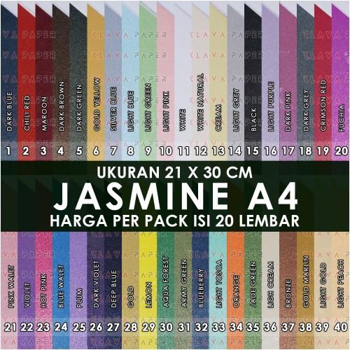 Foto Produk Kertas Jasmine A4 190gsm Campur Warna @20, Kertas Undangan , Bunga dari KLAVA
