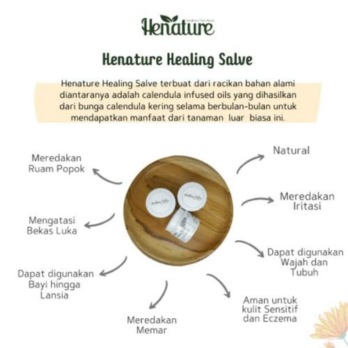 Foto Produk Henature Healing Salve 30 gr, obat alami penyakit kulit, ruam popok dari cahyaMakmur