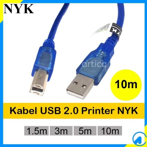Foto Produk Kabel Printer USB2.0 10m Transparan dari Artica Computer