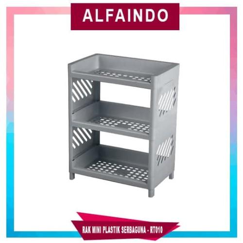 Foto Produk Rak Plastik Mini Serbaguna 3 Susun RT010 - Putih dari AlfaIndo