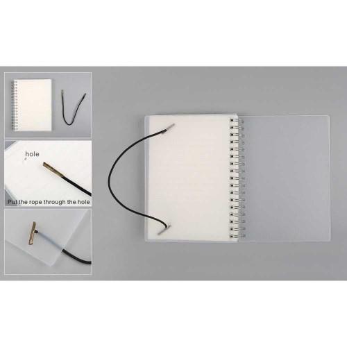Foto Produk Buku Tulis Catatan Pocket Binder Notebook Agenda Planer Polos A6 dari lbagstore