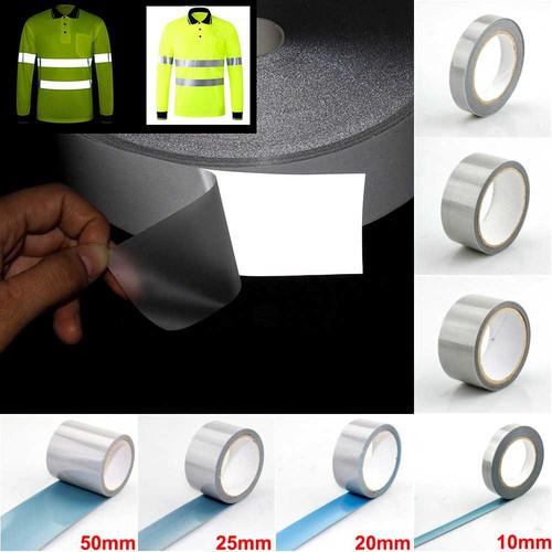 Foto Produk Stiker Reflektor Nyala Untuk Kain Baju Jaket Jas Hujan Press Panas - 50mm x 1M dari lbagstore