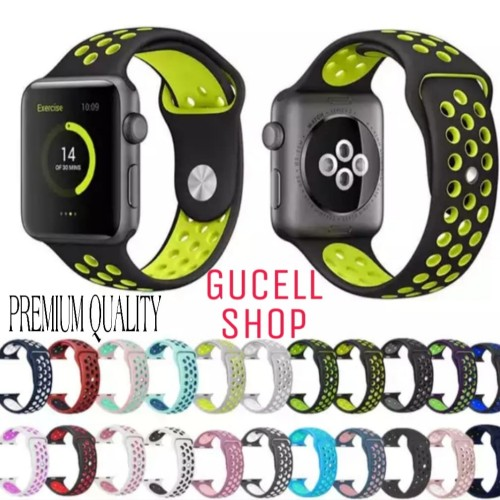 Foto Produk STRAP IWATCH NIKE SPORT BAND APPLE WATCH 4 3 2 1 44mm 40mm 42mm 38mm - 38MM dari Gucell Shop
