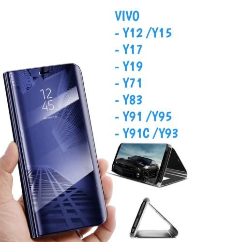 Foto Produk Clear View Y12 Y15 Y19 Y91 Y95 Vivo Sarung Flip Mirror Cover Standing dari Indo Smart Acc