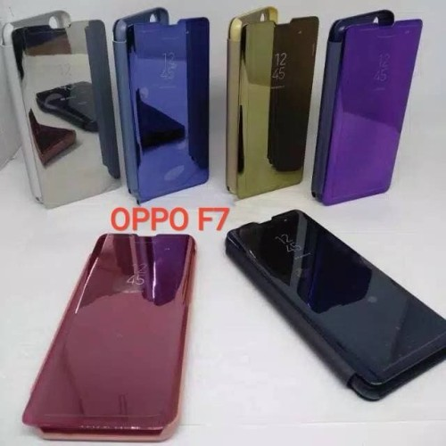 Foto Produk Clear View Oppo F7 Flip Mirror Standing Cover Oppo F7 dari LOTUS ACCESORIESS