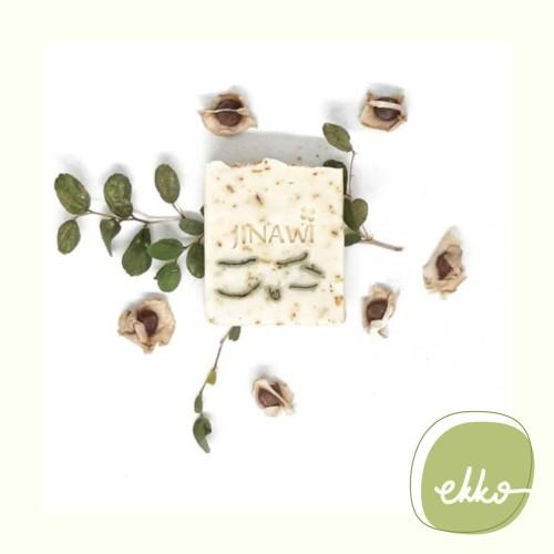 Foto Produk Jinawi - Creamy Moringa Scrub Bar Soap / Sabun Batang Alami Zero Waste dari Ekko Store