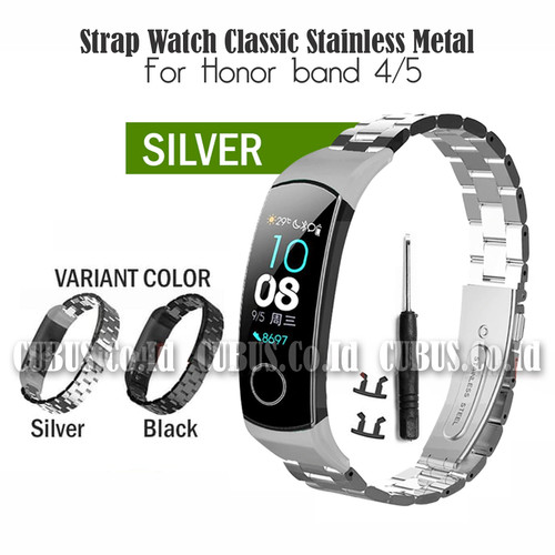 Foto Produk Costa Strap Watch Classic Stainless Metal For Honor band 4/5 - Silver dari Cubus_Co_ID
